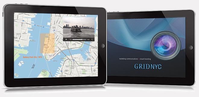 iPad app screens