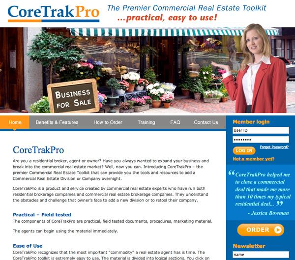 CoreTrakPro website