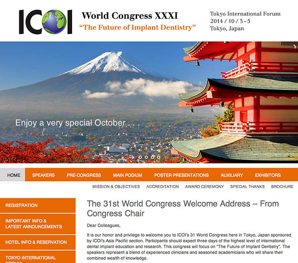 2014 ICOI World Congress website design