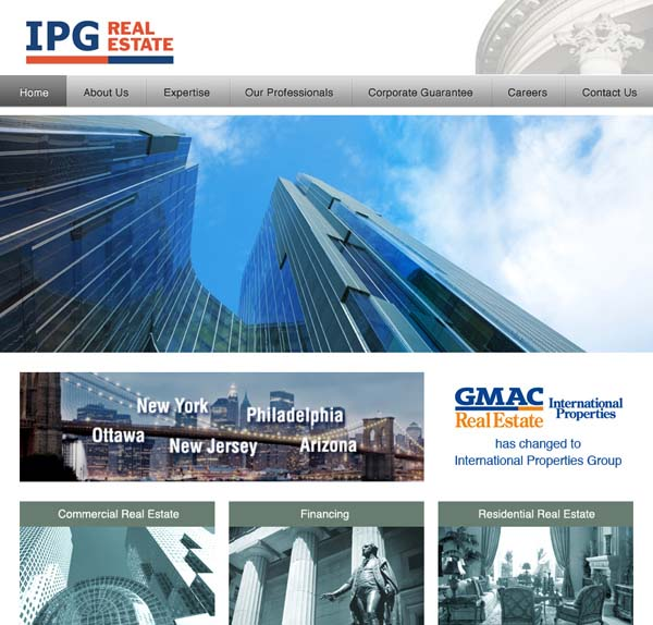 ipg real estate web design