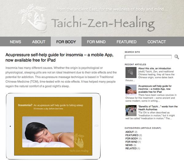 Taichi-Zen-Healing website