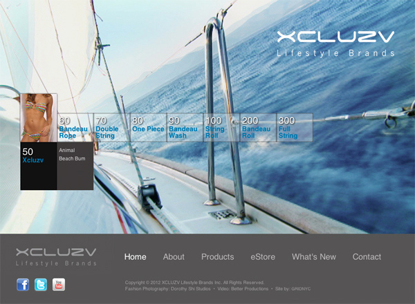 New XCLUZV website